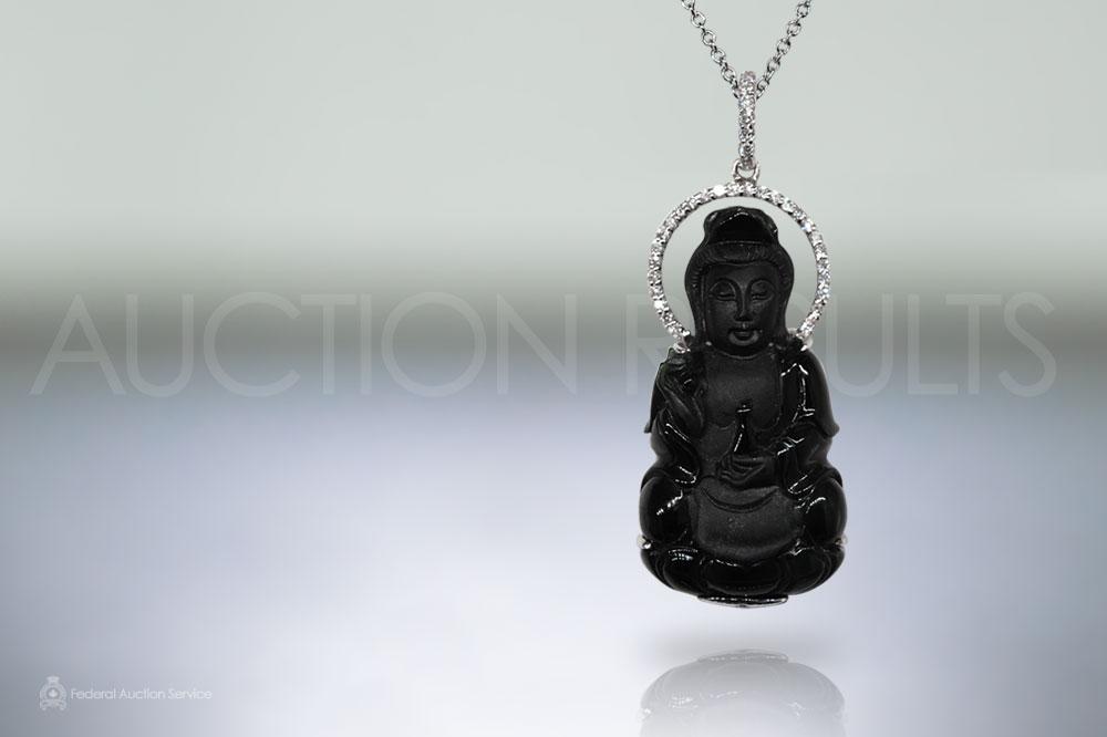 18k white gold burma black jade kwan yin carved pendant sold for 18k white gold burma black jade kwan yin carved pendant sold for 3200 aloadofball Gallery