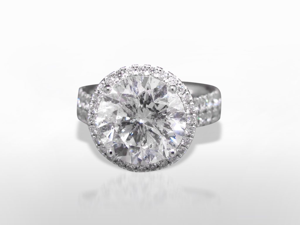 5.40ct Round Brilliant Cut Diamond Ring