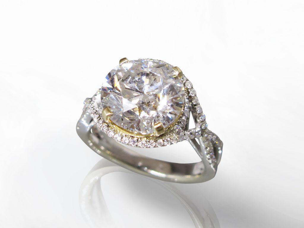 5.01ct Round Brilliant Cut Diamond Ring