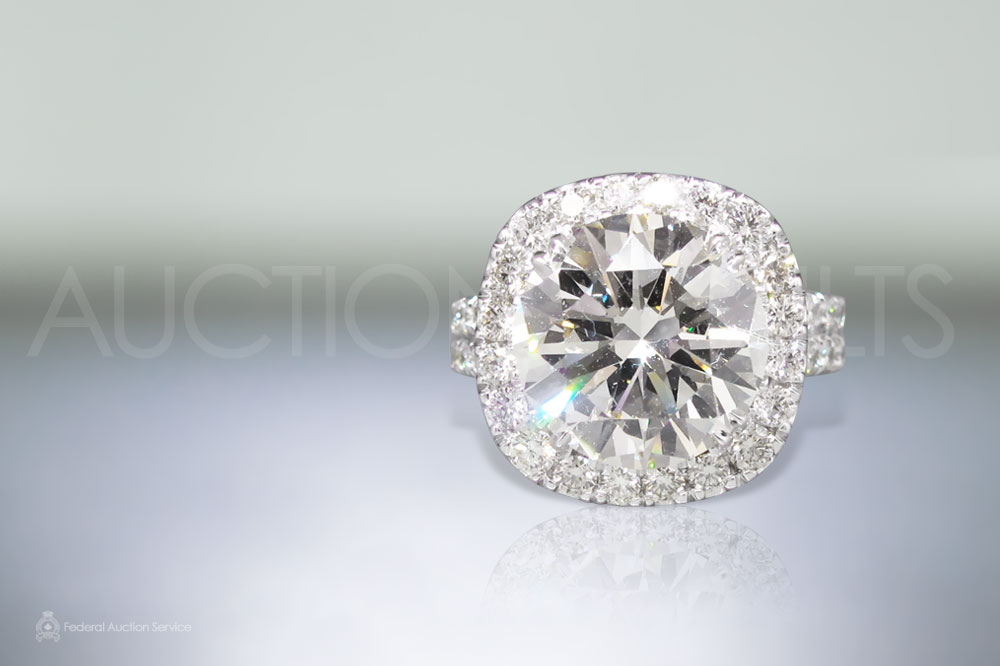 CGL Certified 6.35ct Round Brilliant Cut 'Internally Flawless' Diamond Ring sold for $95,000