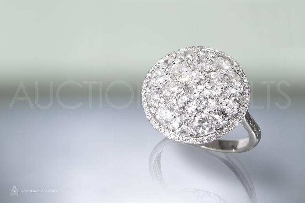 Lady's 14k White Gold Diamond Ring sold for $2,500