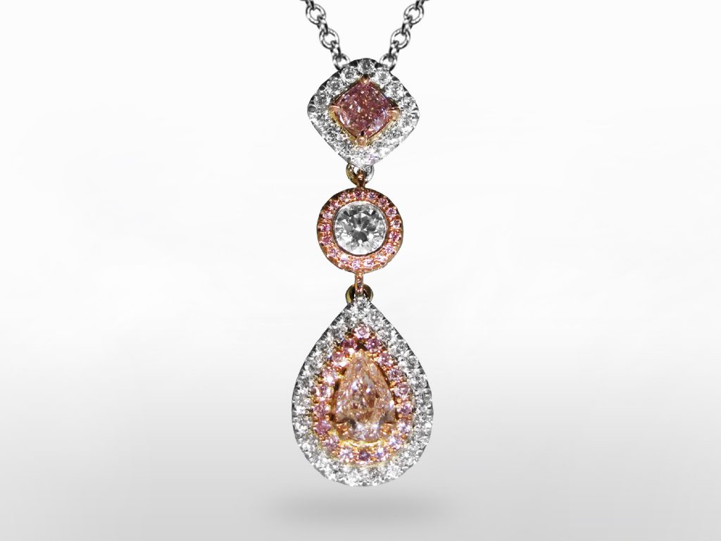 GIA Certified Fancy Pink Diamond Pendant Necklace