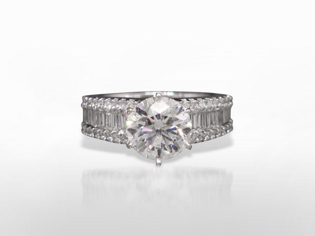 2.05ct Round Brilliant Cut Diamond Ring