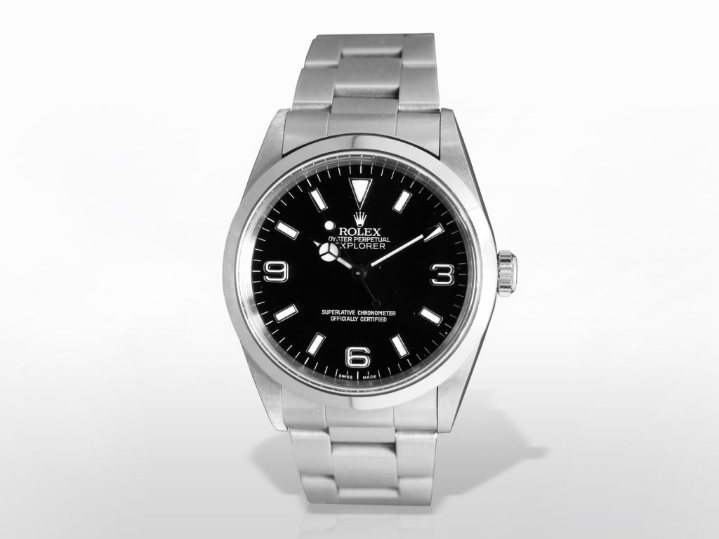 Men's Stainless Steel Rolex Explorer Automatic Wristwatch