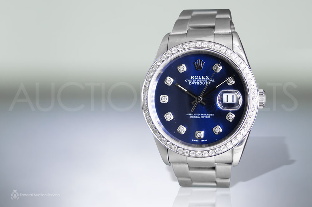 Men's Stainless Steel Rolex Datejust Automatic Wristwatch sold for $7,000