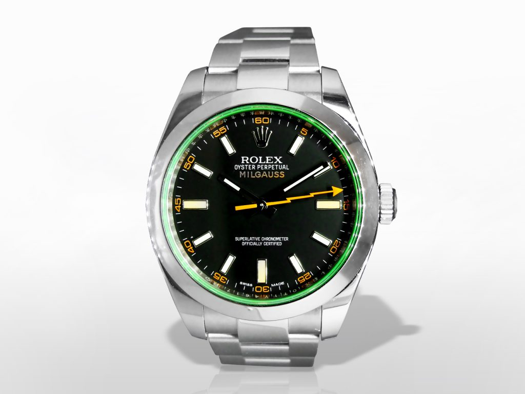 "Men's 904l Stainless Steel Rolex ""Milgauss"" Automatic and Paramagnetic Wristwatch"
