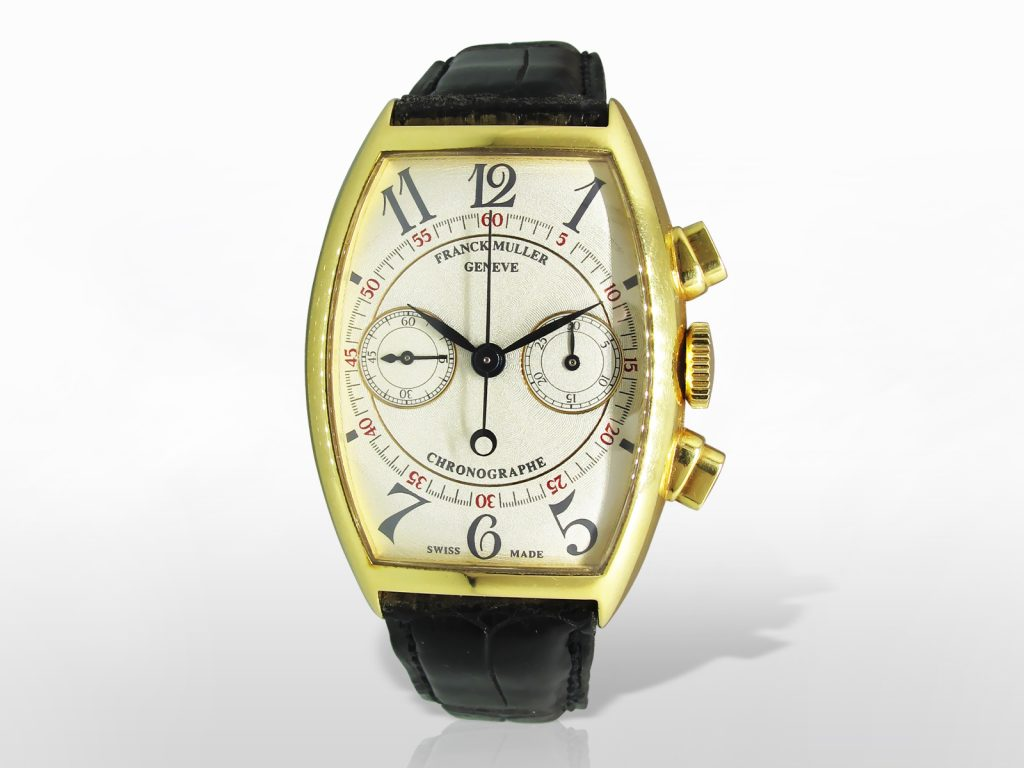 "Men's 18k Yellow Gold Franck Muller ""Chronographe"" Manual Mechanical Wristwatch"