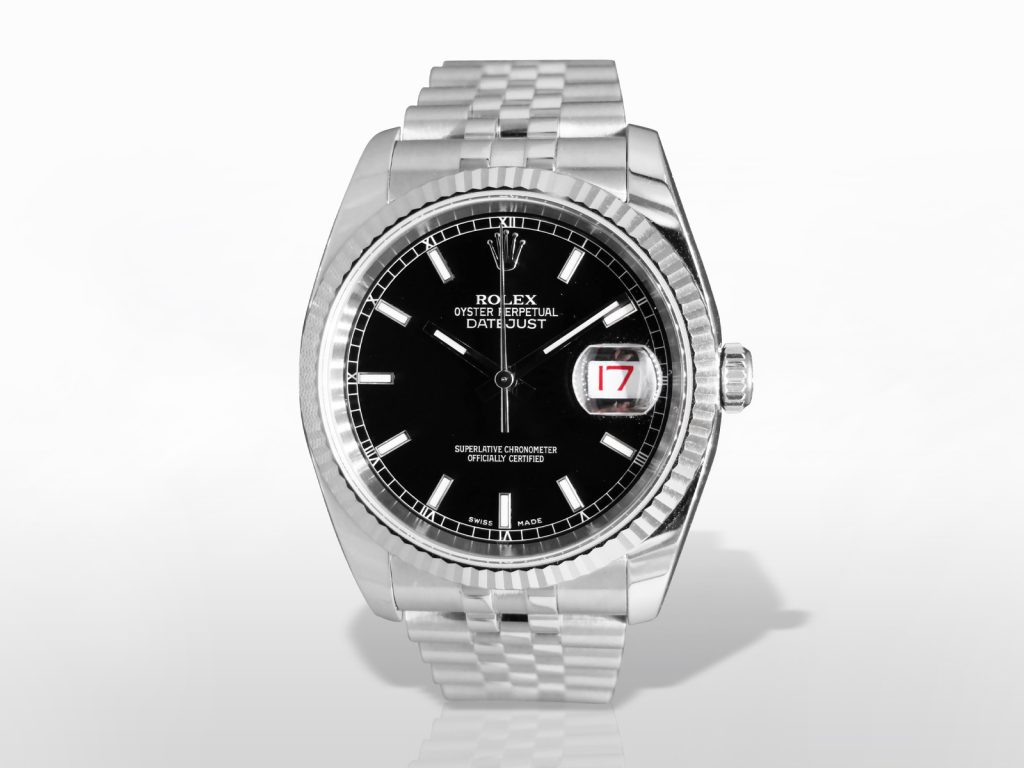 Men's Stainless Steel Rolex Datejust Automatic Wristwatch