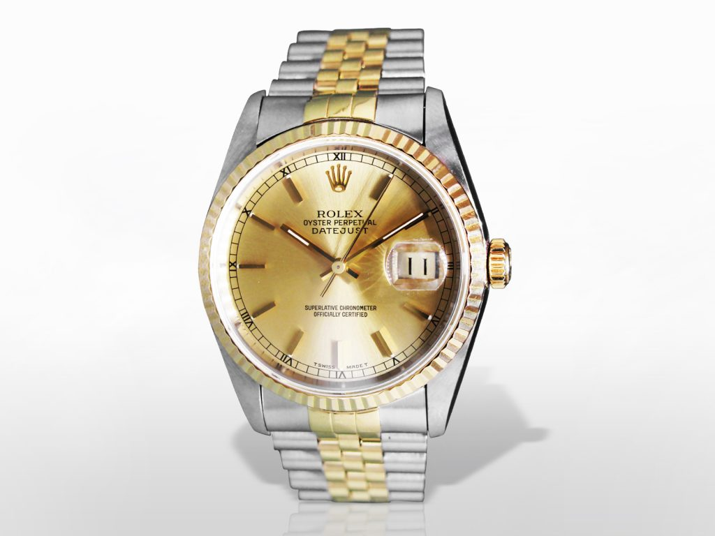 "Men's Stainless Steel/18k Yellow Gold Rolex ""Datejust"" Automatic Wristwatch"