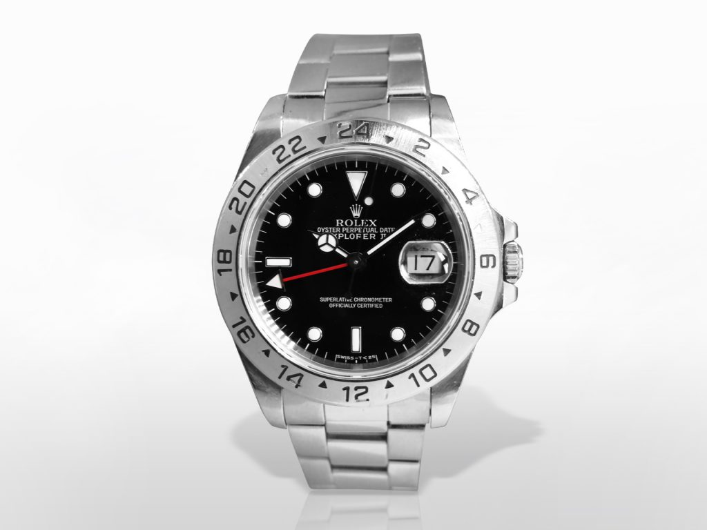 "Men's Stainless Steel Rolex ""Explorer II"" Automatic Chronometer"