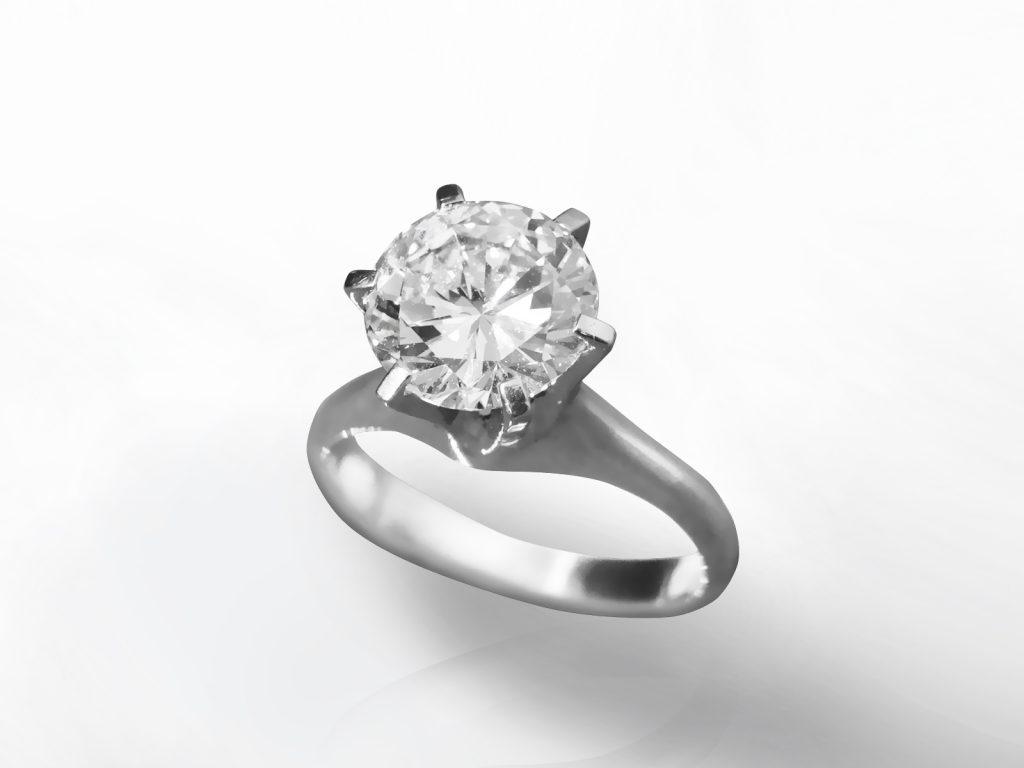 """Platinum GIA Certified 2.54ct """"D Color"""" Round Brilliant Cut Diamond Ring"""