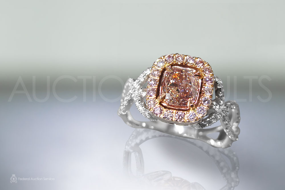 1ct Fancy Pink Diamond Ring sold for $23,000