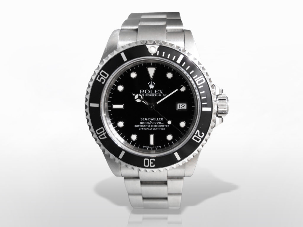 "Men's Stainless Steel Rolex ""Sea-Dweller"" Automatic Chronometer"