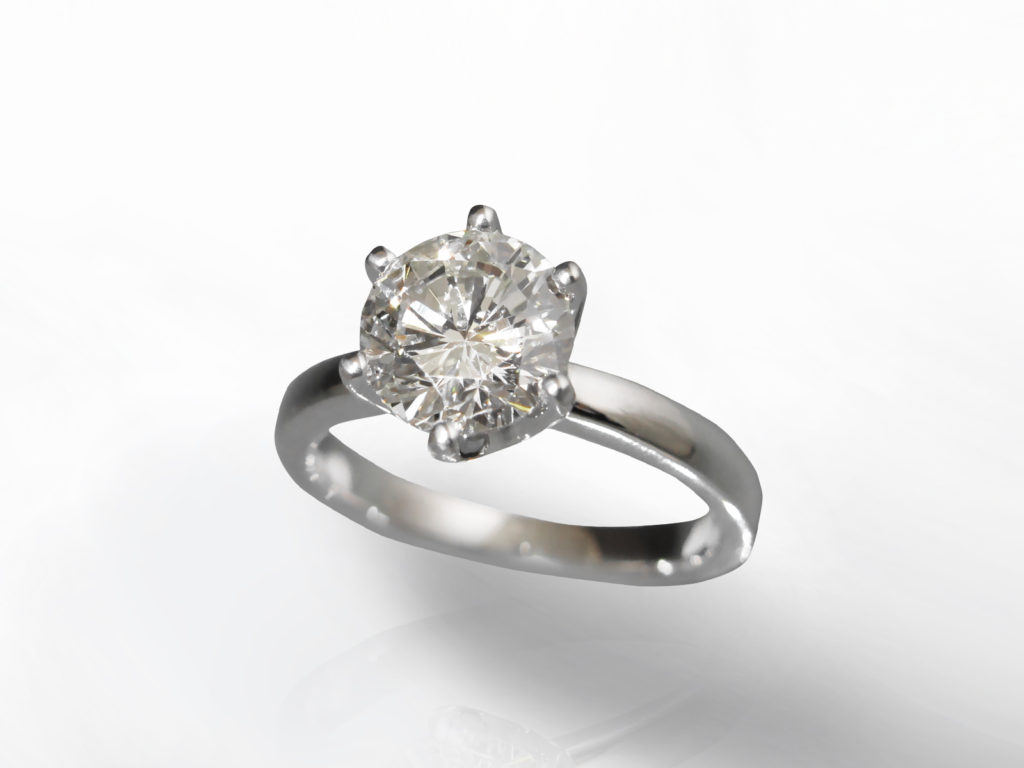 CGL Certified 2.01ct Round Brilliant Cut Canadian Diamond Ring