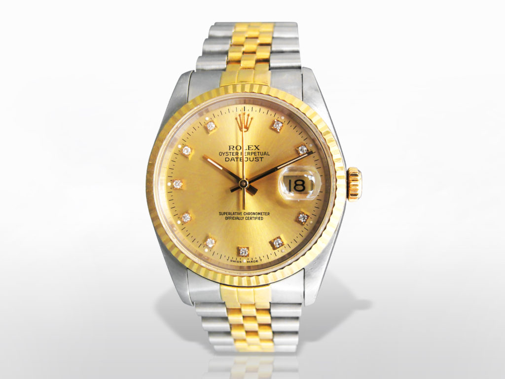Men's Stainless Steel/18k Yellow Gold Rolex Datejust Automatic Wristwatch