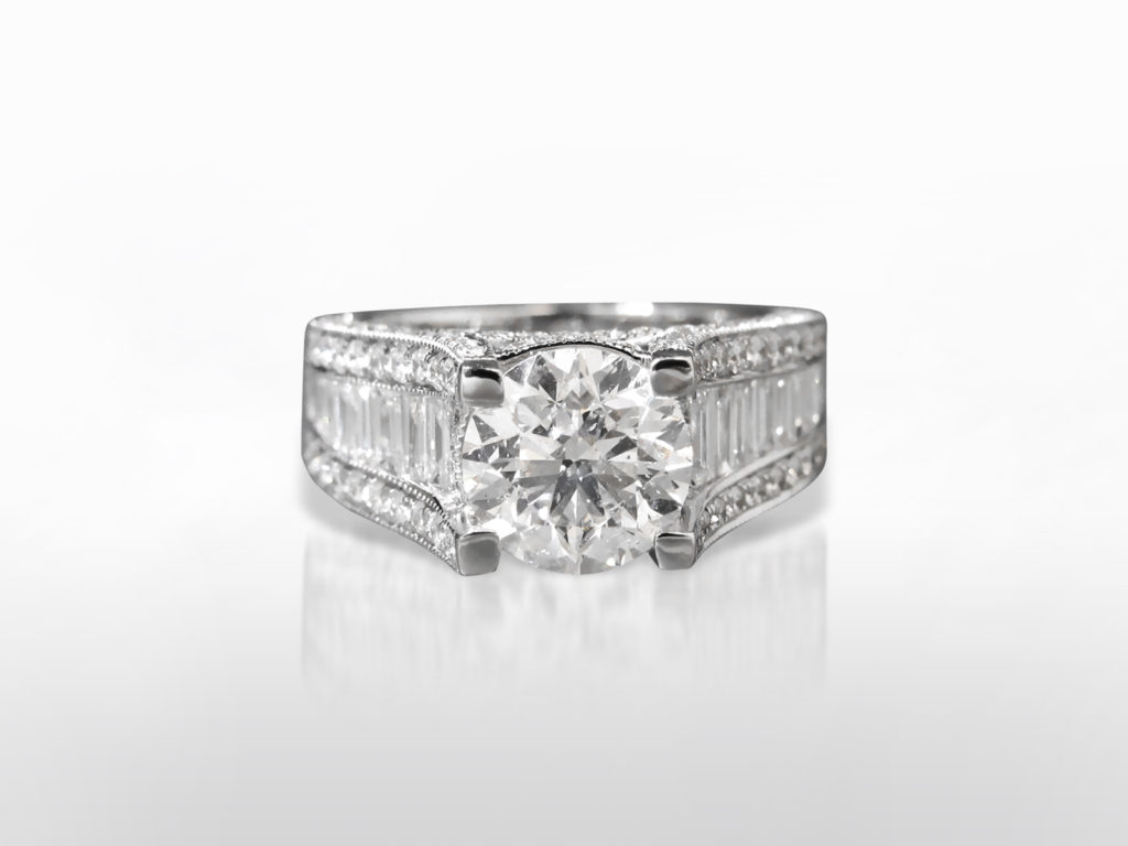 IGI Certified 2.50ct Round Brilliant Cut Diamond Ring