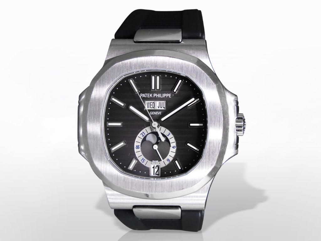 "Men's Stainless Steel Patek Philippe ""Nautilus"" Mechanical Self Winding Wristwatch"