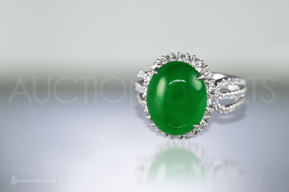 Fine Cabochon Jade Ring sold for $38,000