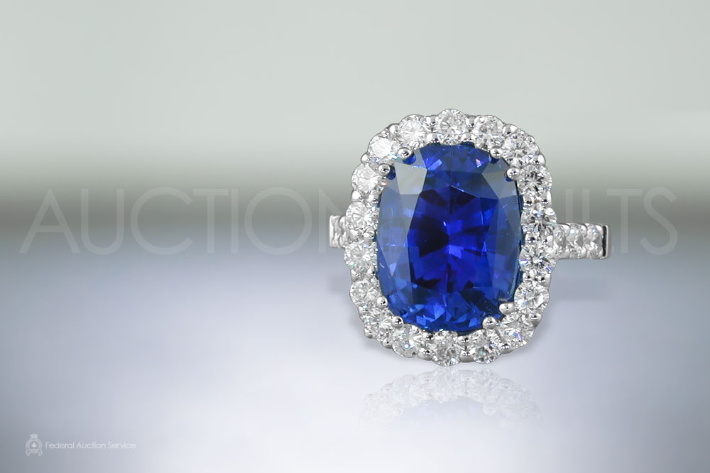 7ct Ceylon Blue Sapphire Ring sold for $31,000