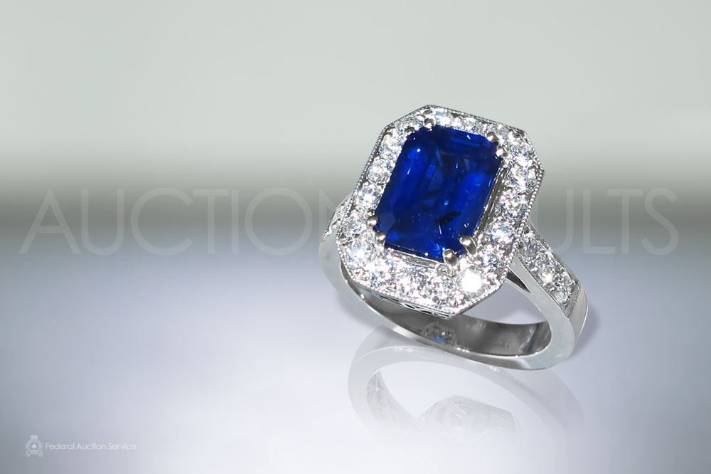 3ct Fine Ceylon Sapphire and Diamond Ring sold for $16,000