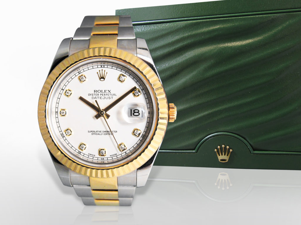 Men's Stainless Steel/18k Yellow Gold Rolex Datejust Automatic Wristwatch, with Box