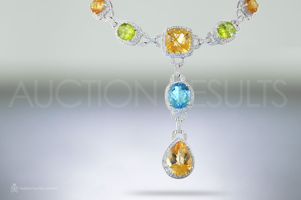Multicolor Stones Necklace sold for $5,600