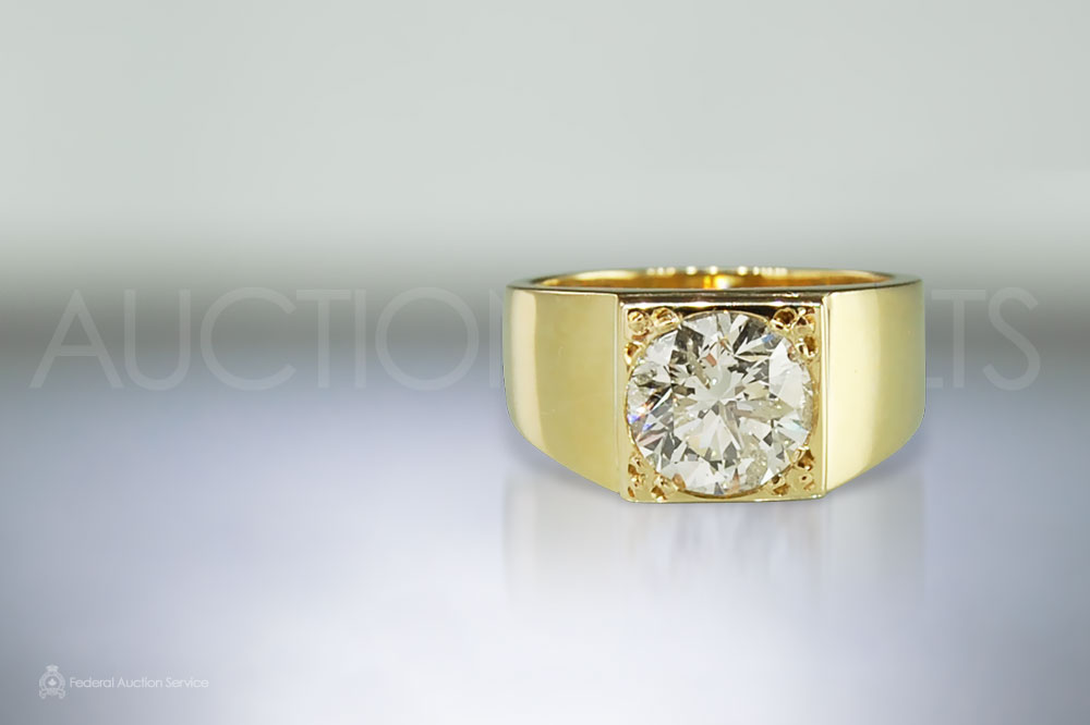 3ct Men's Diamond Ring sold for $16,000