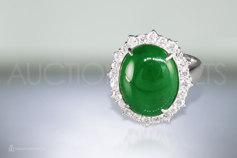 Large Burma Jade Ring sold for $24,000