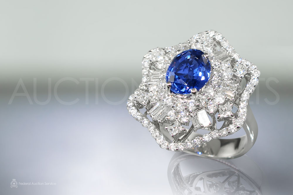 2.64ct Fine Ceylon Blue Sapphire and Diamond Ring sold for $6,500