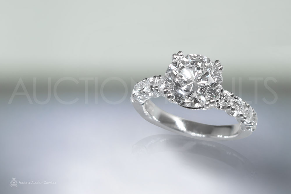 EGL Certified 3.00ct Round Brilliant Cut Diamond Ring sold for $61,000