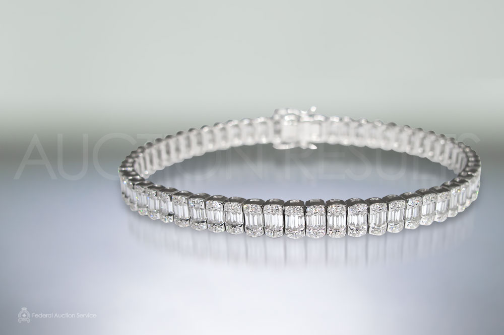 18k White Gold 4.45ct Diamond Bracelet sold for $10,000