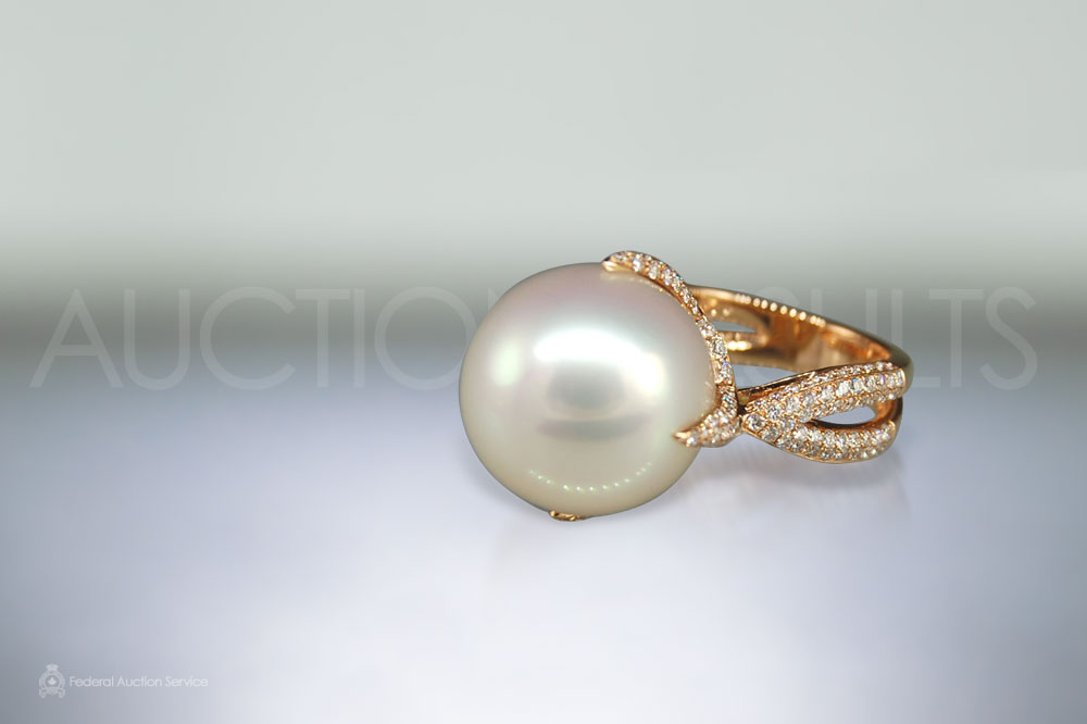 16mm South Sea Pearl Ring sold for $9,200