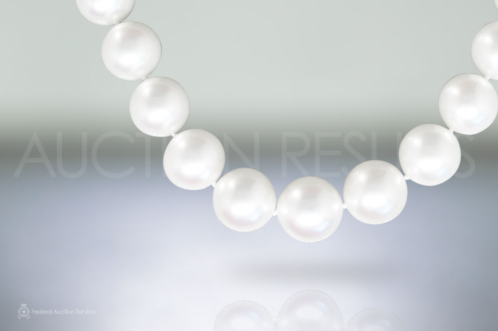 Fine South Sea White Pearl Necklace Containing Apx. 13.0-16.3 mm Round White South Sea Pearls sold for $30,000