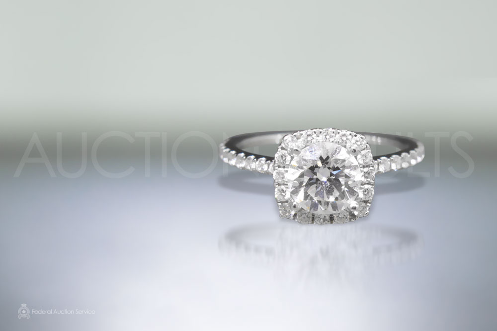 GIA Certified 1.01ct Round Brilliant Cut Diamond Ring sold for $11,500
