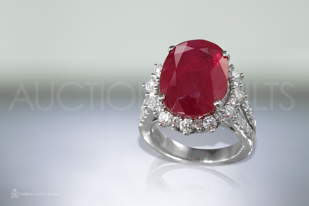 11ct Ruby Ring sold for $35,000