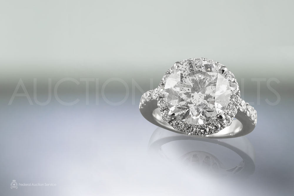 EGL Certified 5.03ct Round Brilliant Cut Diamond Ring sold for $50,000