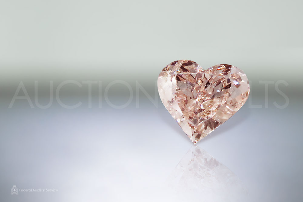 GIA Certified Loose 0.99ct Heart Brilliant Cut Fancy Brownish Pink Diamond sold for $10,000