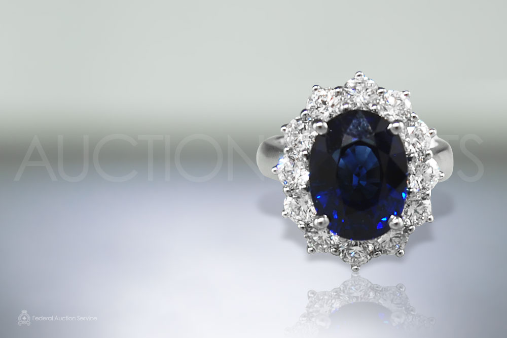 8ct Intense Blue Sapphire Ring sold for $28,000
