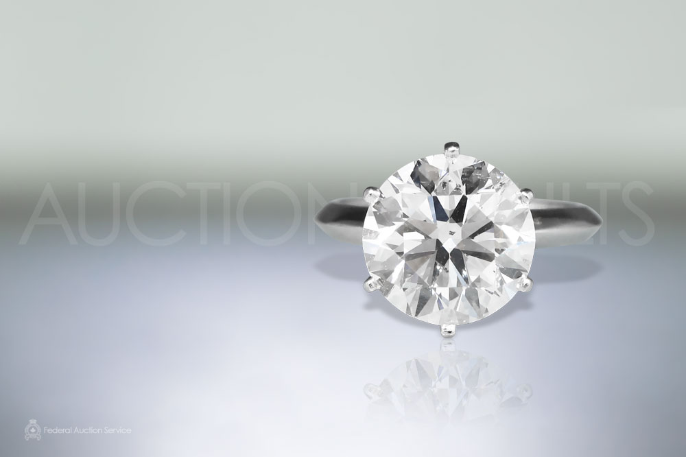 EGL Certified 5.03ct Round Brilliant Cut Diamond Ring sold for $75,000