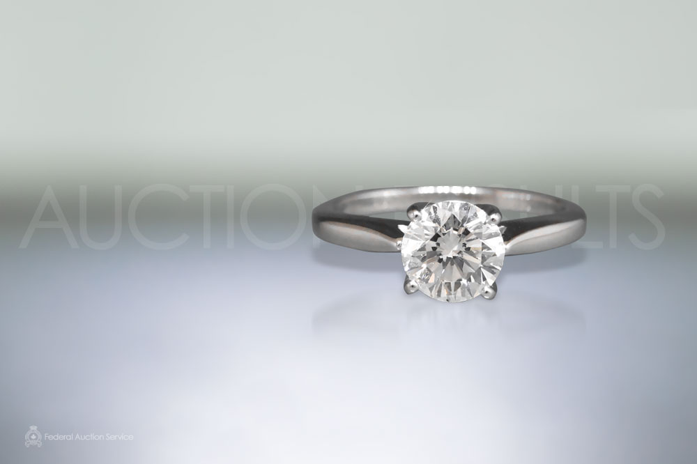 GIA Certified 1.10ct Round Brilliant Cut Diamond Ring sold for $5,600