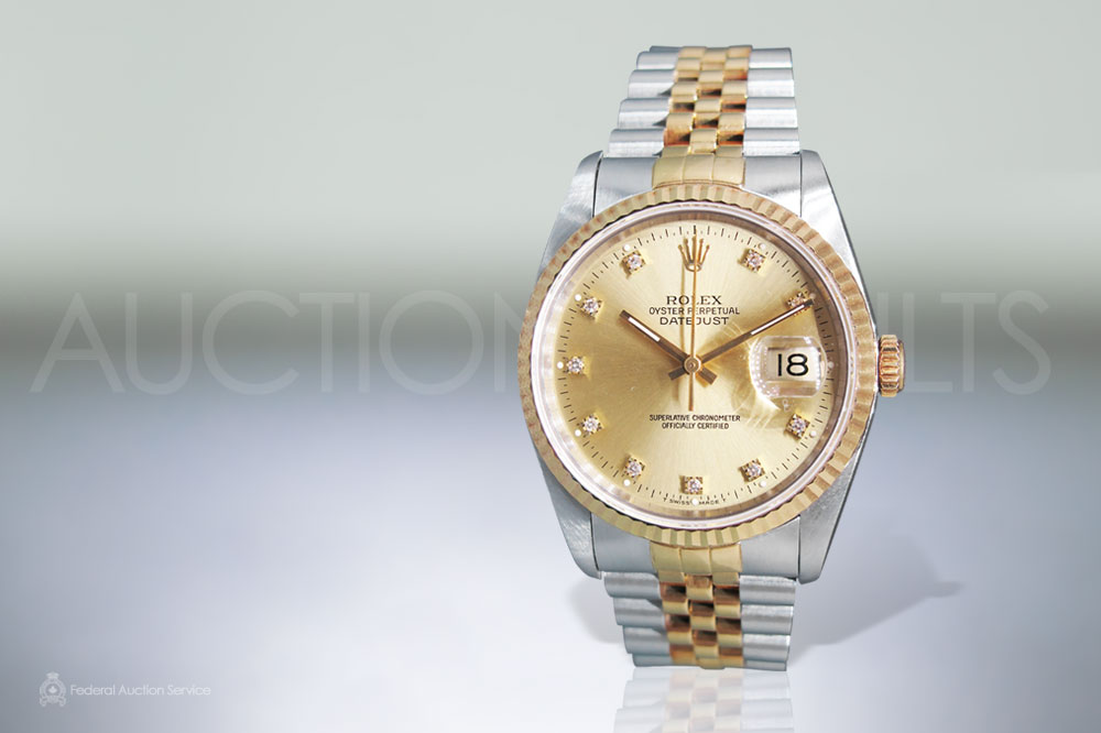 Men's Stainless Steel/18k Yellow Gold Rolex Datejust Automatic Wristwatch sold for $6,000