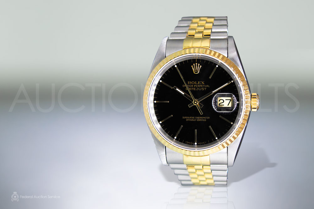 Men's 18k Stainless Steel/Yellow Gold Rolex Datejust Automatic Wristwatch sold for $6,300