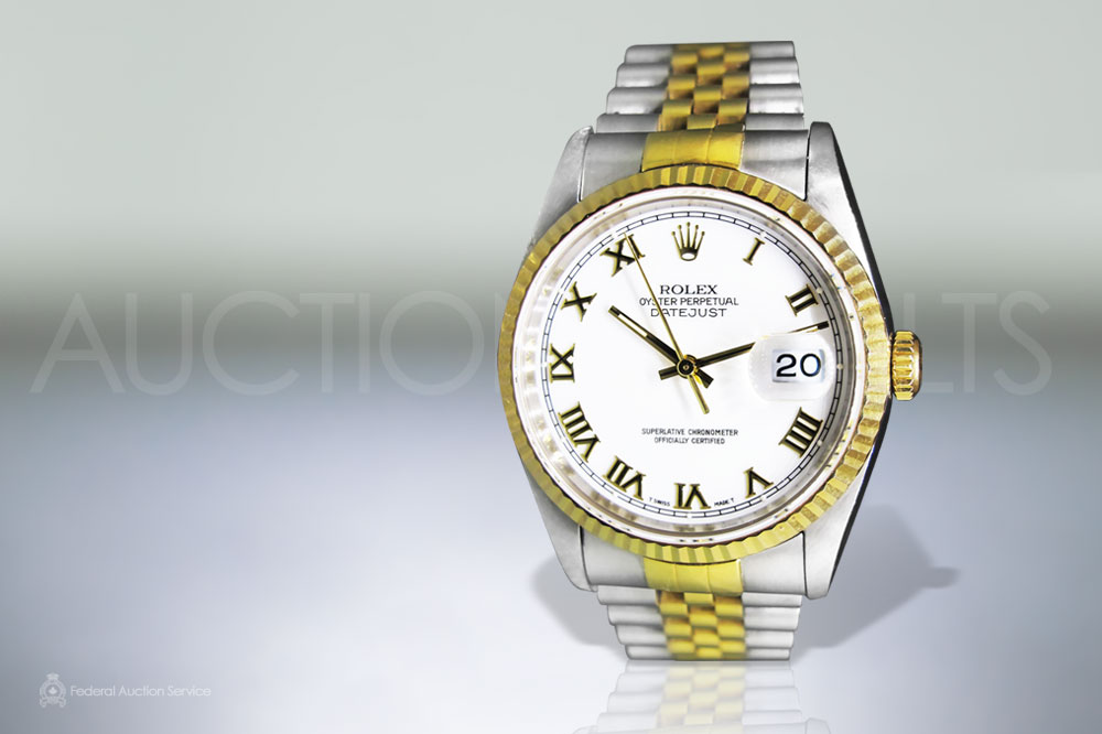 Men's 18k Stainless Steel/Yellow Gold Rolex Datejust Automatic Wristwatch sold for $5,600