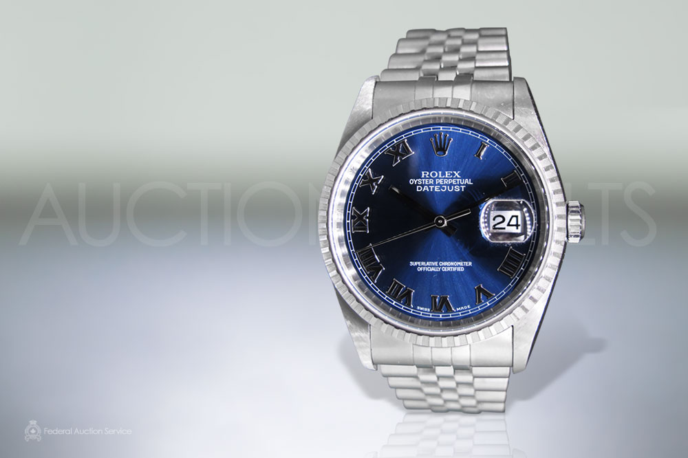 Men's Stainless Steel Rolex Datejust Automatic Wristwatch sold for $5,000