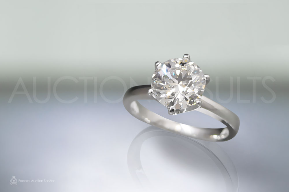 EGL Certified 2.00ct Round Brilliant 'Ideal' Cut Diamond Ring sold for $27,600