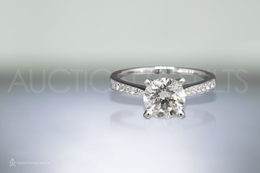 GIA Certified 1.01ct Round Brilliant Cut Diamond Ring sold for $7,000