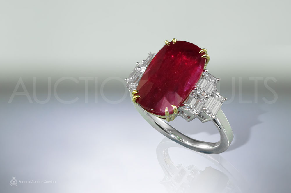 8.3ct Ruby and Diamond Ring sold for $21,000
