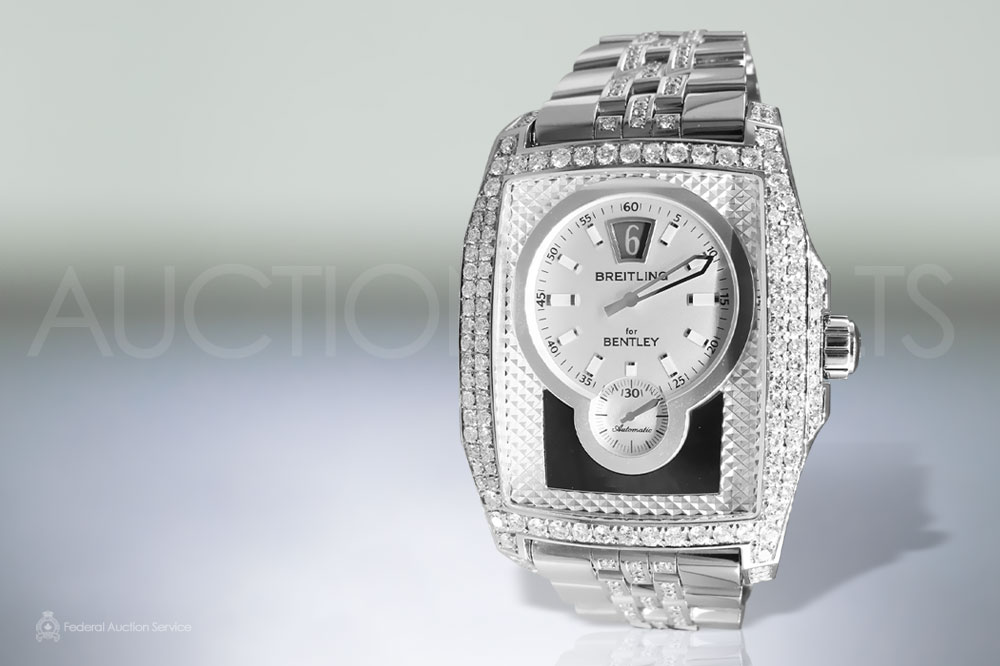 Men's Stainless Steel Breitling For Bentley 'The Flying B' Automatic Wristwatch sold for $26,000