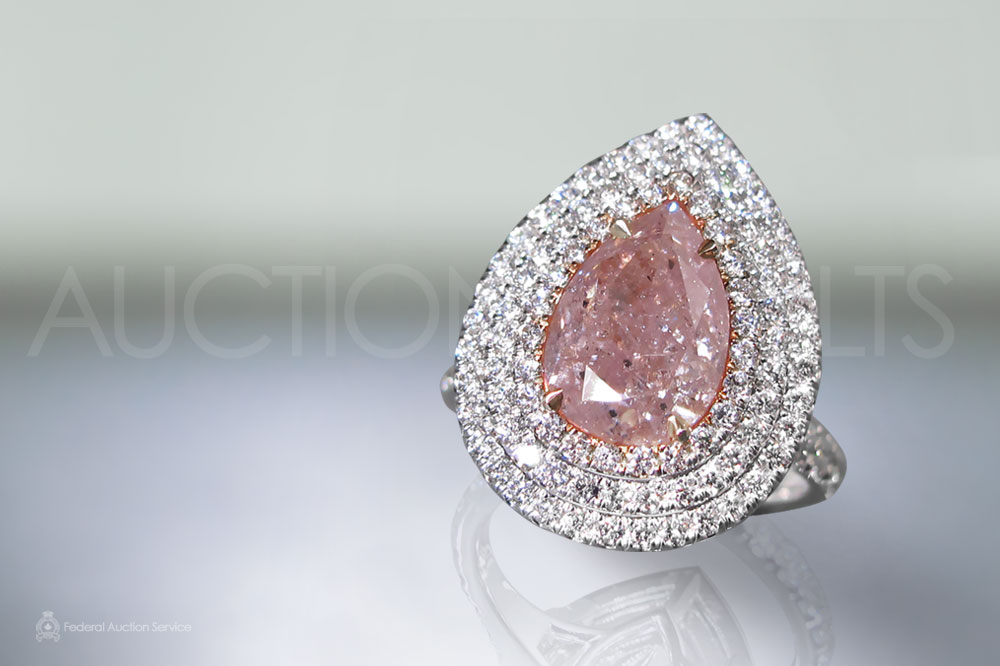 3ct Fancy Pink Diamond Ring sold for $61,000