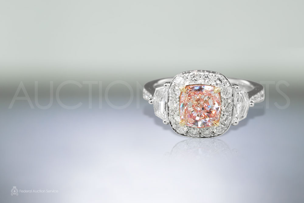 GIA Certified 1ct Natural Fancy Pink Cushion Cut Diamond sold for $100,000